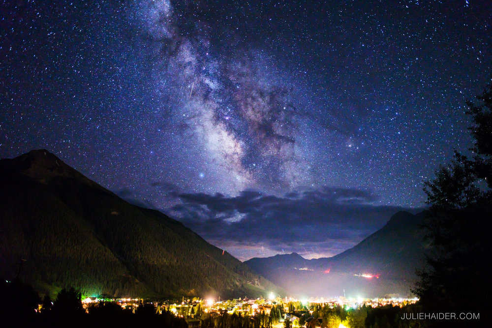 The Milky Way over Silverton, Colorado.