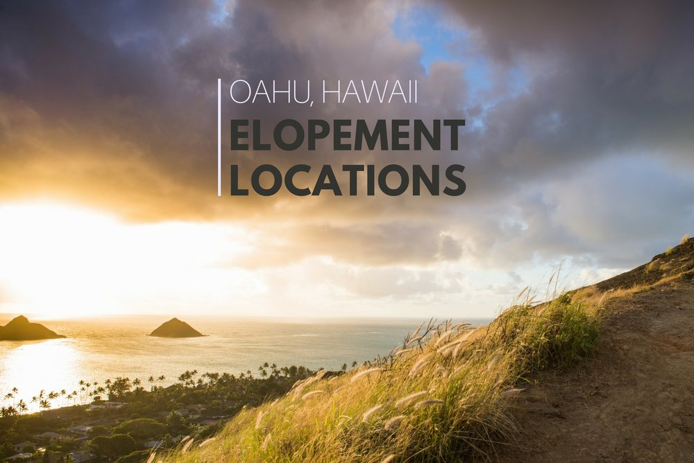 Where to elope on Oahu, Hawaii - Have a sunrise elopement or hike through the rain forest for your adventurous wedding! Check out these location ideas for your Hawaiian elopement.