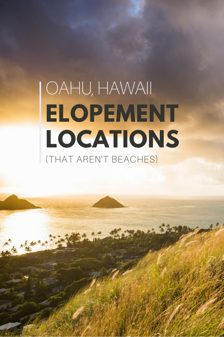 Hawaii is so much more than pristine beaches - use one of these 5 hiking trails for your elopement location! Watch the sun rise over the Mokulua Islands from the pillbox trail, or have your wedding ceremony next to the famous Manoa Falls. Or check out the off-the-beaten-path Judd Trail and its beautiful forests and cascades.