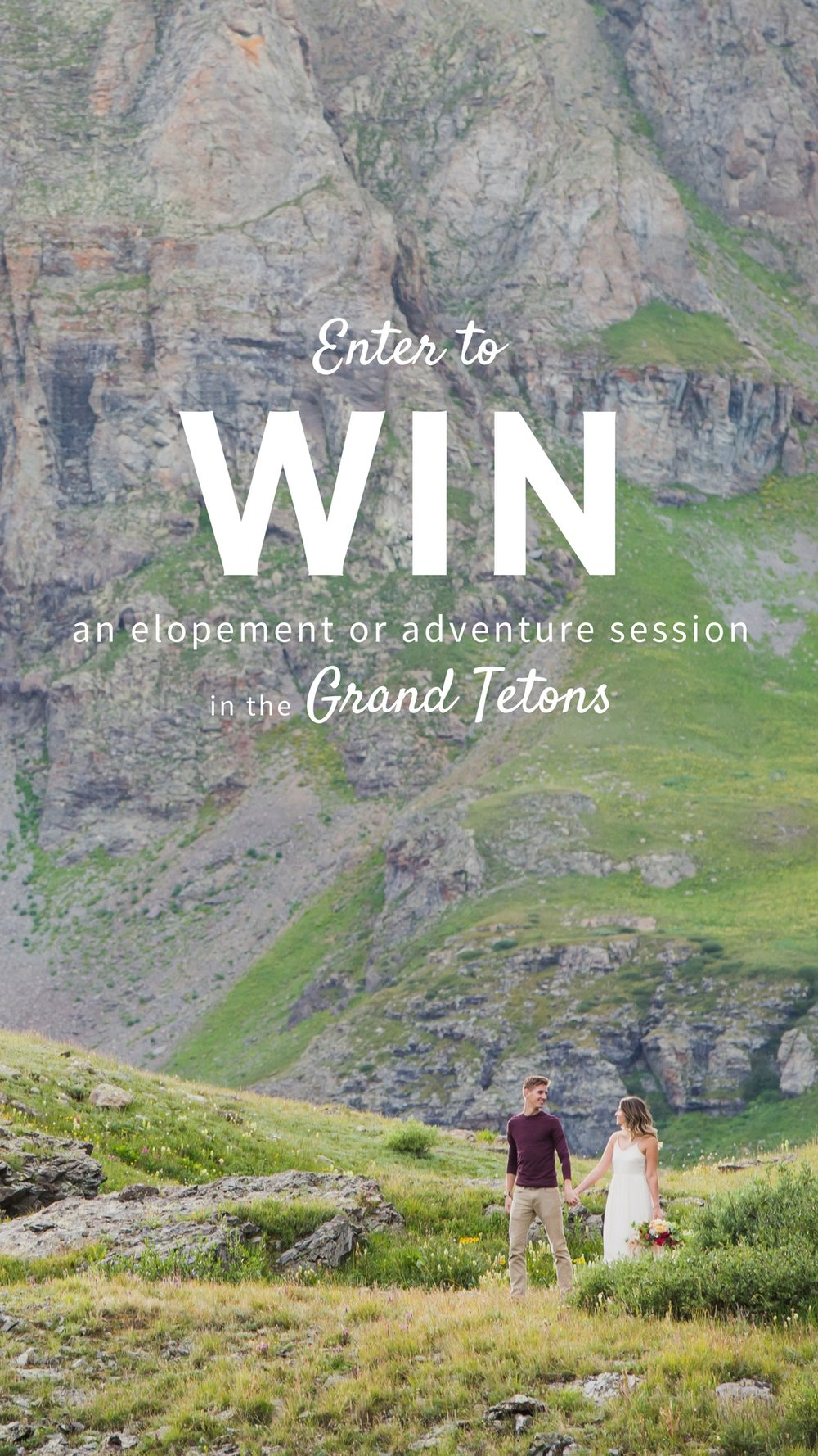 Win a free elopement photography package for Grand Tetons National Park!