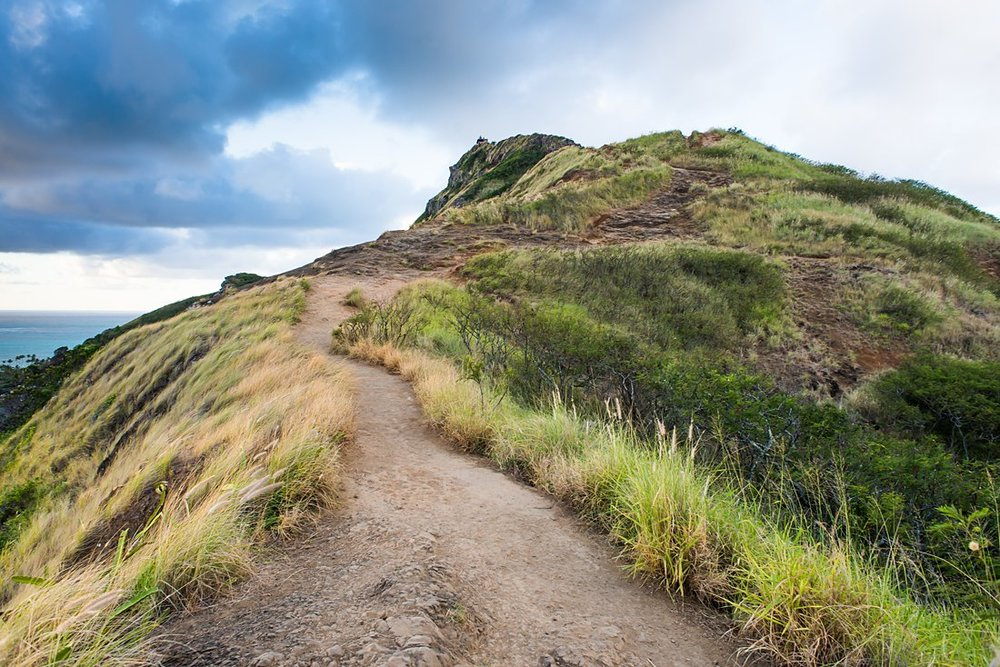 Lanikai Pillbox Hike is a beautiful trail and overlook for an elopement location on Oahu Hawaii
