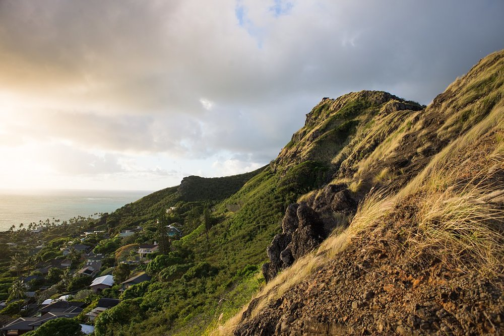 Elope with a beautiful ocean view from the Lanikai Pillbox hiking trail