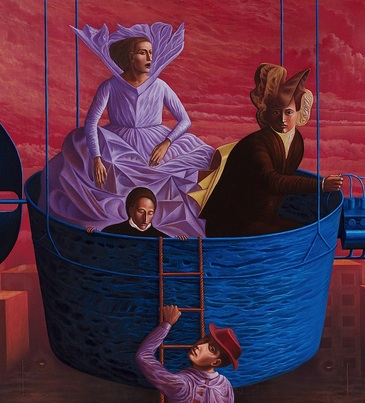 Éxodo II   (2000)  |  Oil on canvas| Rafael Trelles | Museo de Arte de Puerto Rico Collection| image used with permission of the artist