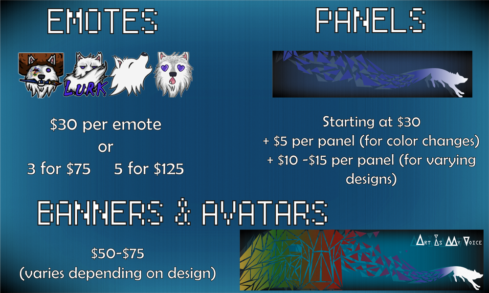 Twitch Graphics — ArtIsMyVoice