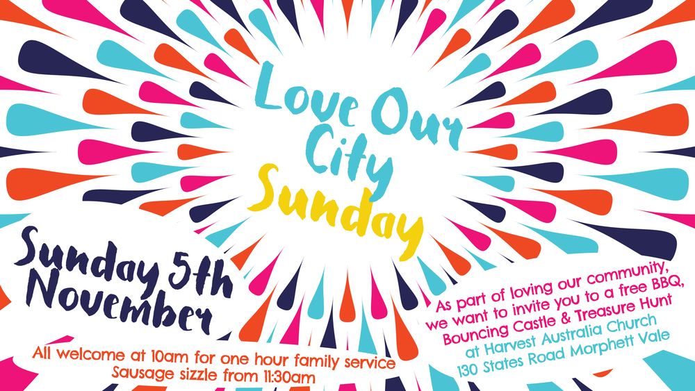 As part of loving our community, we want to invite you to a free BBQ, Bouncing Castle, Treasure Hunt & Volleyball at Harvest Australia Church on Sunday 5th November. All welcome at 10am for one hour family service. Sausage sizzle from 11:30am. Cafe open with food and drinks for purchase. Hope to see you there! #freeBBQ #familyservice #allwelcome #bouncingcastle #treasurehunt #volleyball #familyfriendly