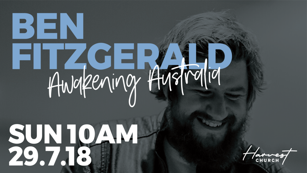 Join us for our weekly gathering with powerful worship, Ben Fitzgerald speaking and amazing time of connection together