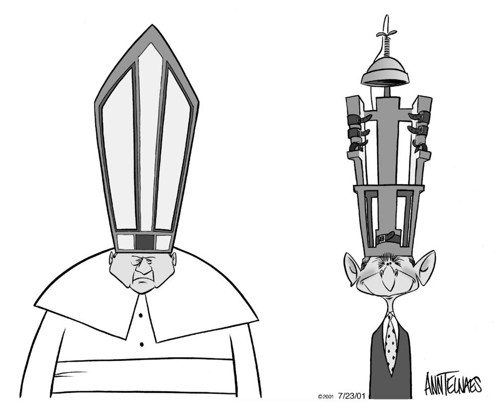 AnnTelnaes_072301Bush&Pope.jpg