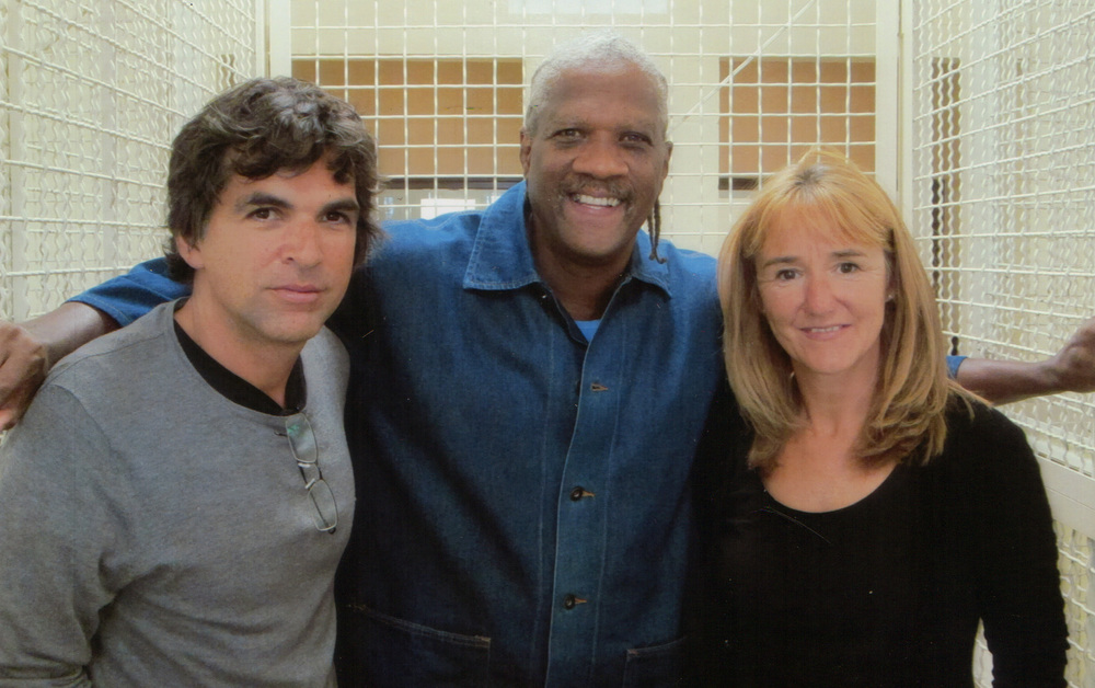 Kevin Cooper with Anne-Fréderiqué Widmann and Patrick Chappatte