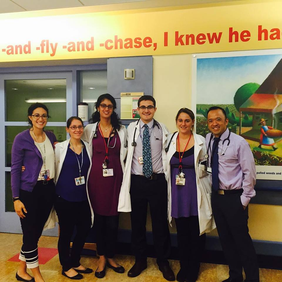 Columbia pediatric residents on wards