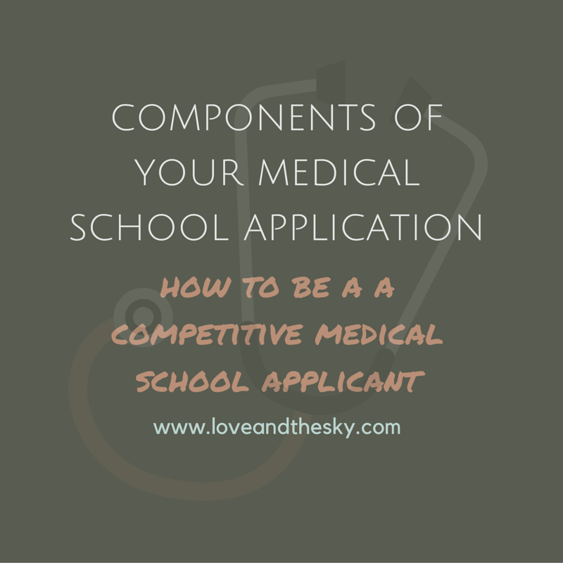 components of your medical school application: how to be a competitive medical school applicant