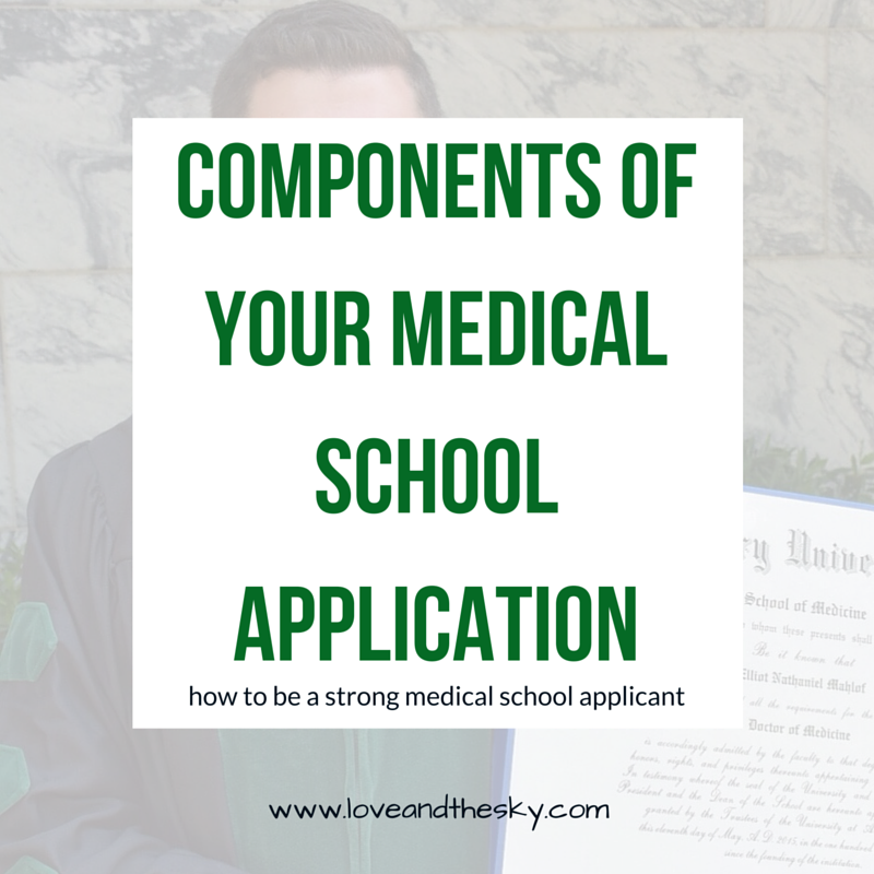 Components of your medical school application - how to be a strong medical school applicant