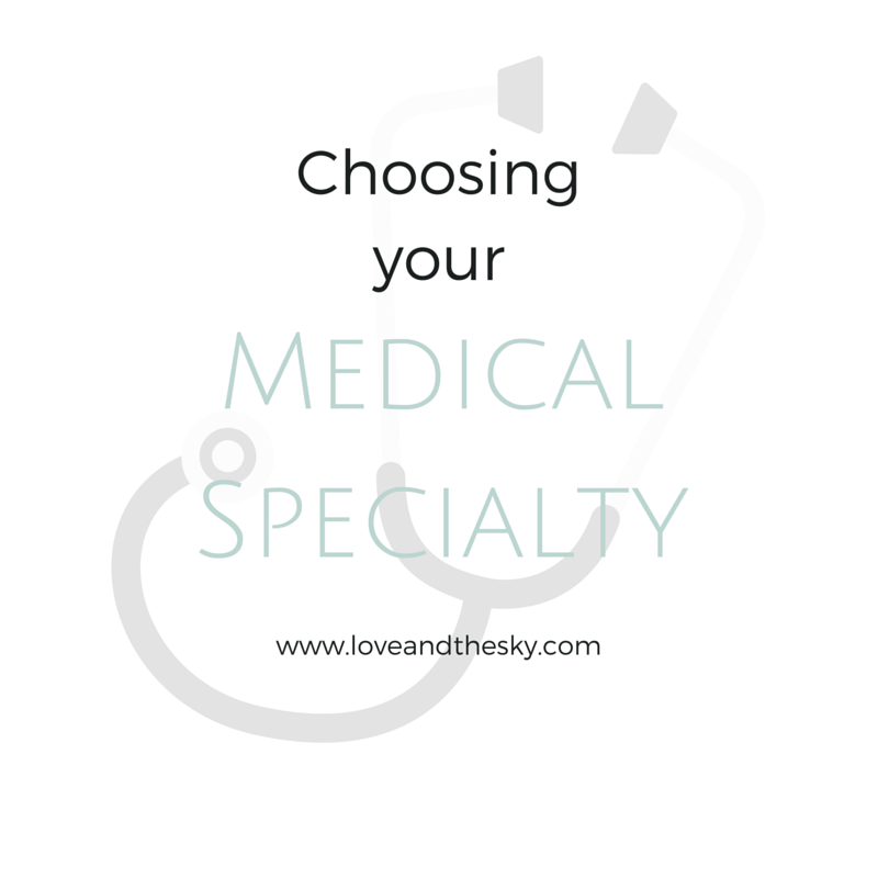 choosing your medical specialty