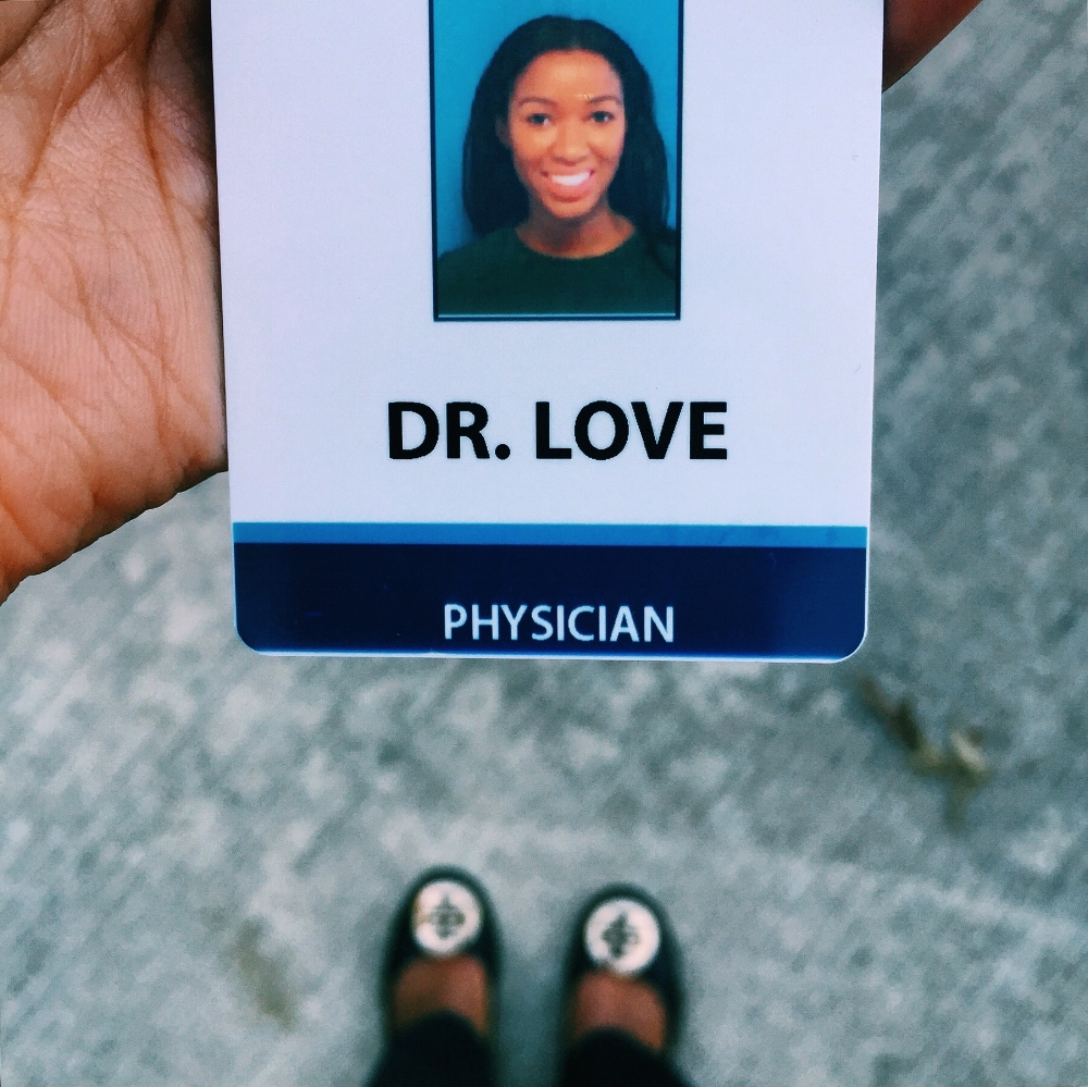 Doctor Elyse Love - dermatology resident , physician, Tory burch flats, Love and the Sky