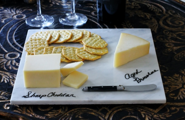 Marble Cheese Board DIY via Leslie Reese