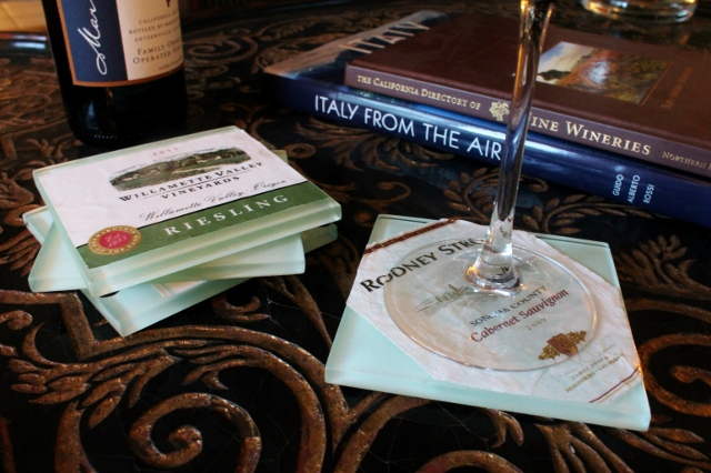 Wine Label Coaster DIY via Leslie Reese (11)
