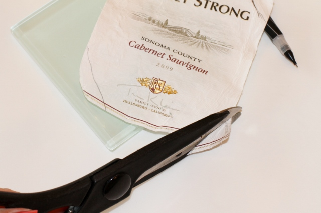 Wine Label Coaster DIY via Leslie Reese (5)