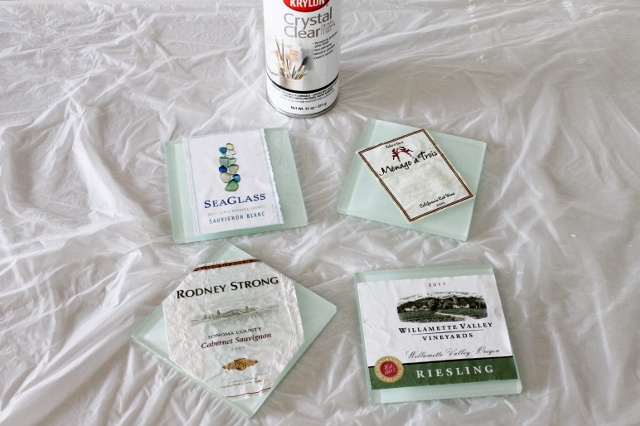 Wine Label Coaster DIY via Leslie Reese (9)