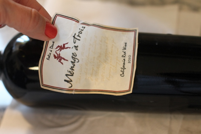 Wine Label Coaster DIY via Leslie Reese