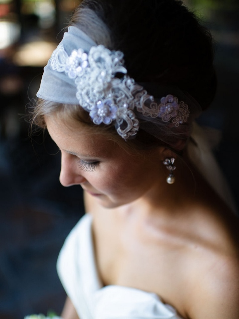 Handmade Wedding Headpiece via Leslie Reese