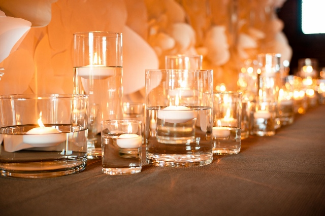Candles and Paper Flowers via Leslie Reese
