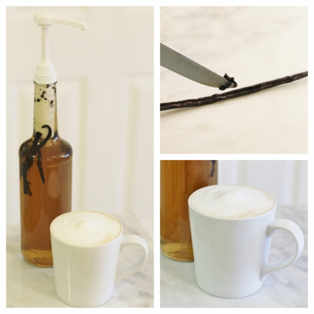 Homemade Vanilla Coffee Syrup via Leslie Reese