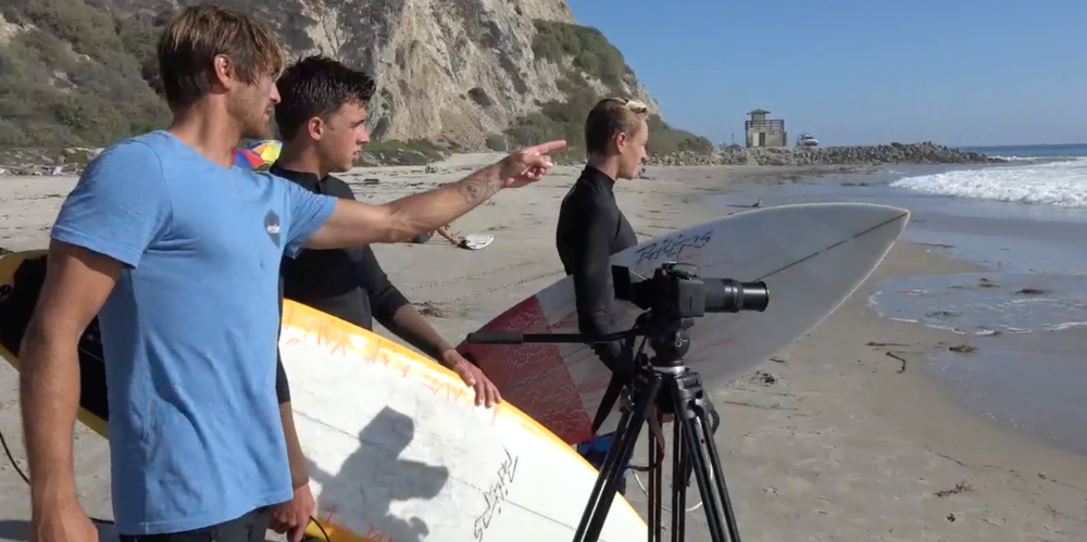 At Practice - After the heats. The focus goes back to the individual. Through video analysis and our signature Wave Breakdowns, the surfer receives a clear understanding of their strengths / weaknesses and how to positively correct technique and grow their confidence.
