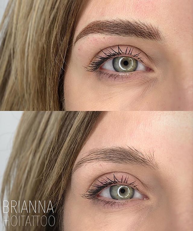 New frames for those beautiful eyes! . . artist | @bri.hoitattoo  studio | @hoitattoo  technique | combination brows  pigment | @tinadaviesprofessional x @tinadavies in ash brown and mallard! . . Online books - www.hoitattoo.com