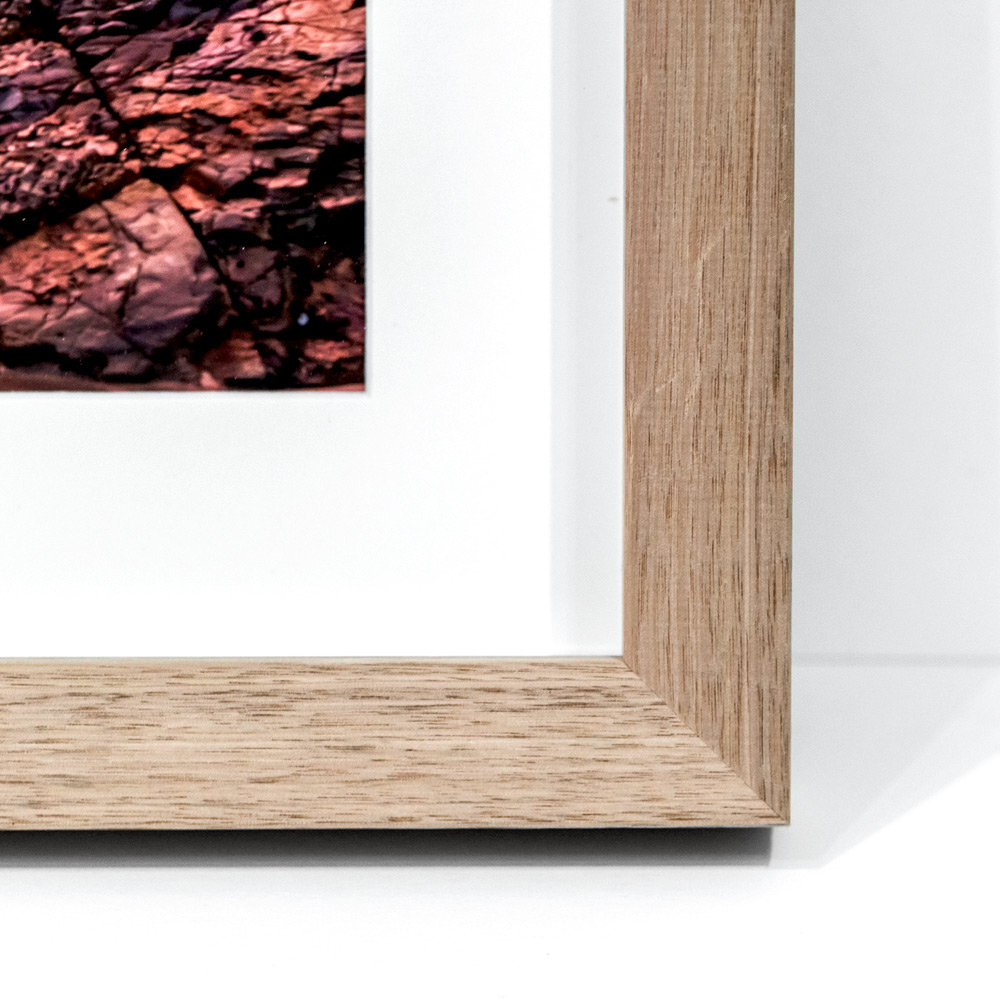 Tasmanian Oak - OakMade from sustainable Australian timber, this solid oak moulding is of the highest quality. The oak lends a natural, coastal finish to our photography.