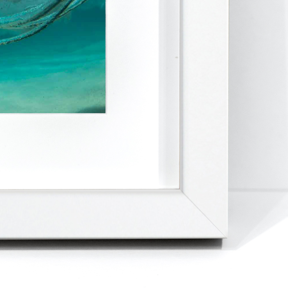 Matt White - Matt WhiteDesigned and made in Italy, these mouldings feature the finest materials and finishes. A white frame adds an elegant negative space to the photographic print.