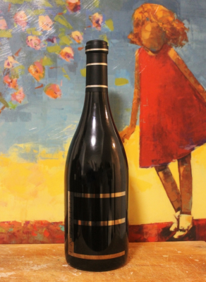 Behold! Pinot with a Painting because I had nothing else for a background.