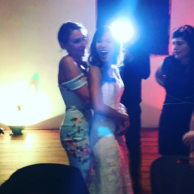 Even though this picture is blurry. It captures the sheer love and joy I feel for this lady. @helloitsbex you are my angel baby and seeing you every day across the office makes me happier than you know. Congrats baby girl, you are my favorite rave bride #bjfest