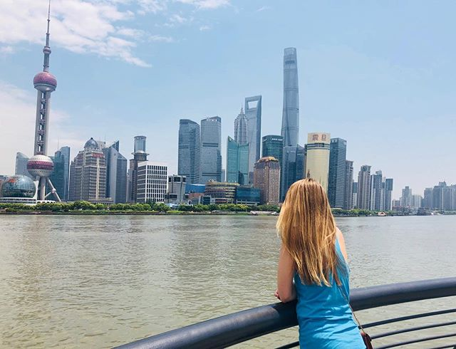 The one sunshine day the whole trip. Too good☀️ #shanghai