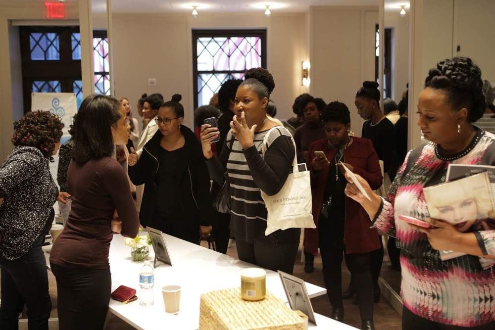 Guests receive expert skin advice from licensed esthetician, Rachelle Richardson of Lespri Spa Services, LLC