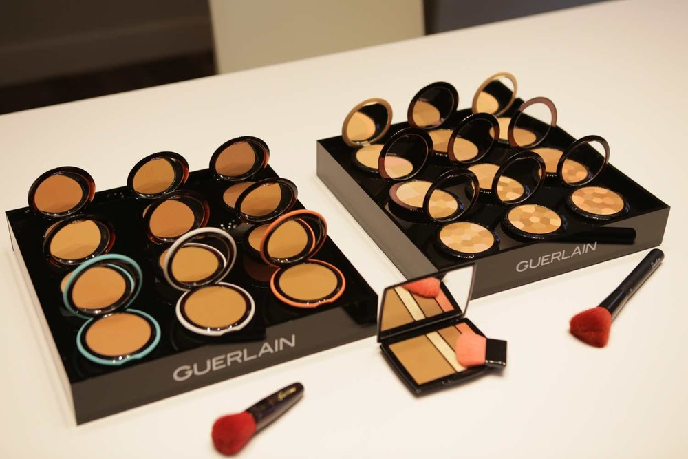 French luxury brand Guerlain  used bronzer to show guests how to add dimension and brightness to the face.