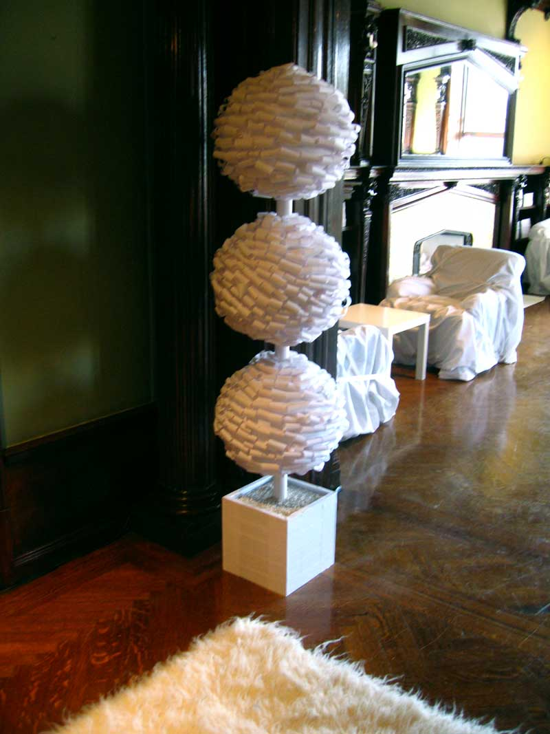 DETAILS OF PAPER SCULPTURES