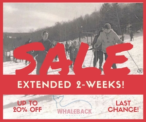 While the Whaleback of a Sale was originally scheduled to end on 10/25, the UVSSF board voted to extend it for 2-weeks!You now have until Friday 11/11 to get your Whaleback season passes at a 20% discount.But you shouldn't procrastinate any further, as we won't be extending this great opportunityagain. Join us for a ski day at Killington---Starting today! Show your Whaleback season passand get 50% off your lift ticket at Killington. (Remember, you also get discounted benefits at Ragged Mountain, Magic Mountain, Mount Sunapee, Eastman Cross Country Center, and Golf & Ski Warehouse!)