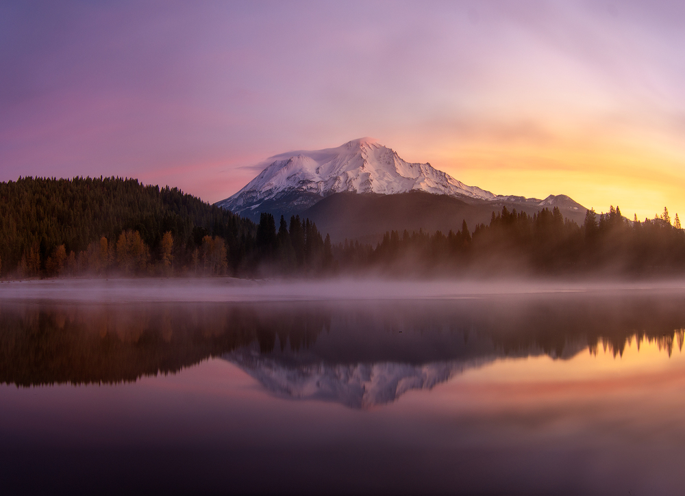 Sunrise colors at Mt Shasta