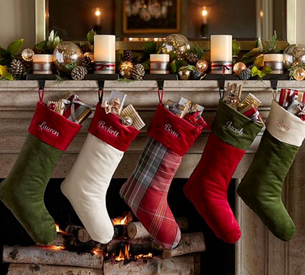 Decorate up your mantle with these fun, personalized stockings.