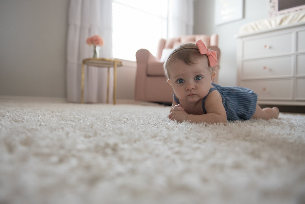 baby on floor-Pensacola Lifestyle In-home child photographer
