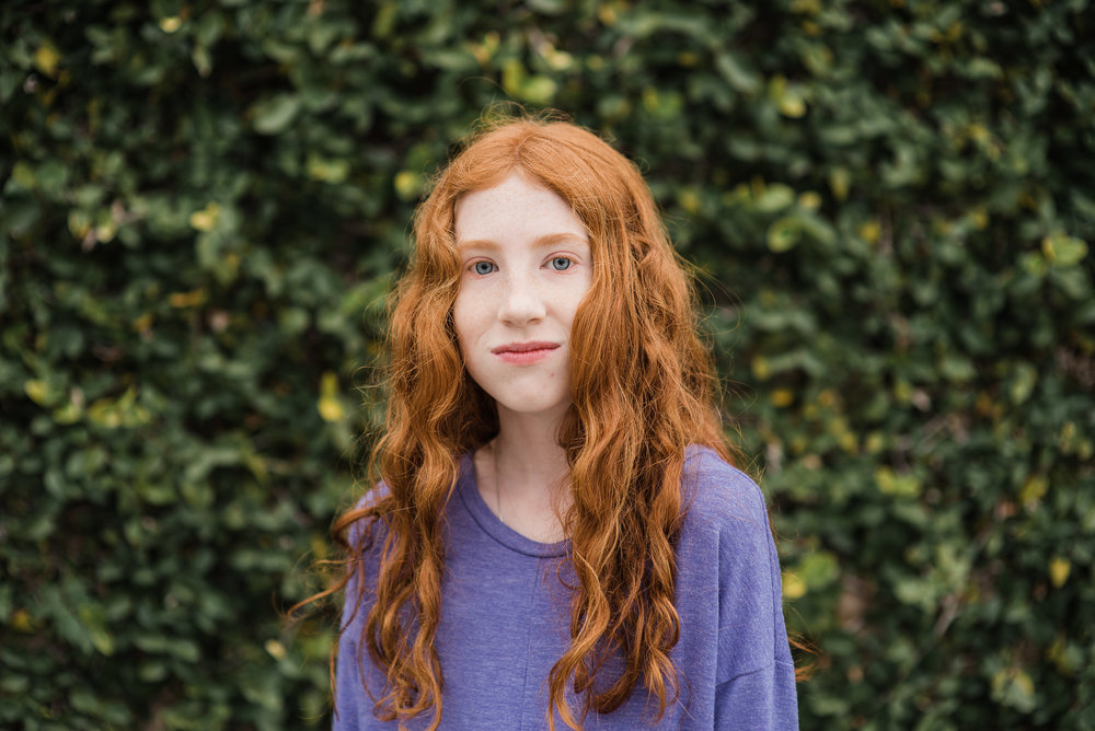 redhead by greenery- Pensacola Children Photographer