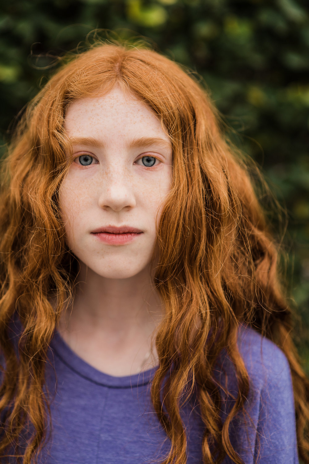 portrait of redhead-Pensacola teen photographer