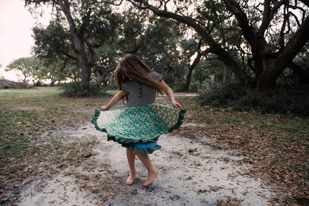 girl twirling-gulf breeze children photographer