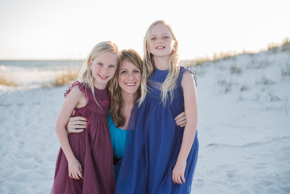 two girls with mom-pensacola family photographer