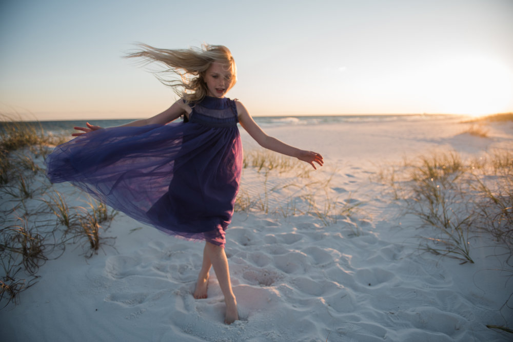 running girl-pensacola beach family photographer