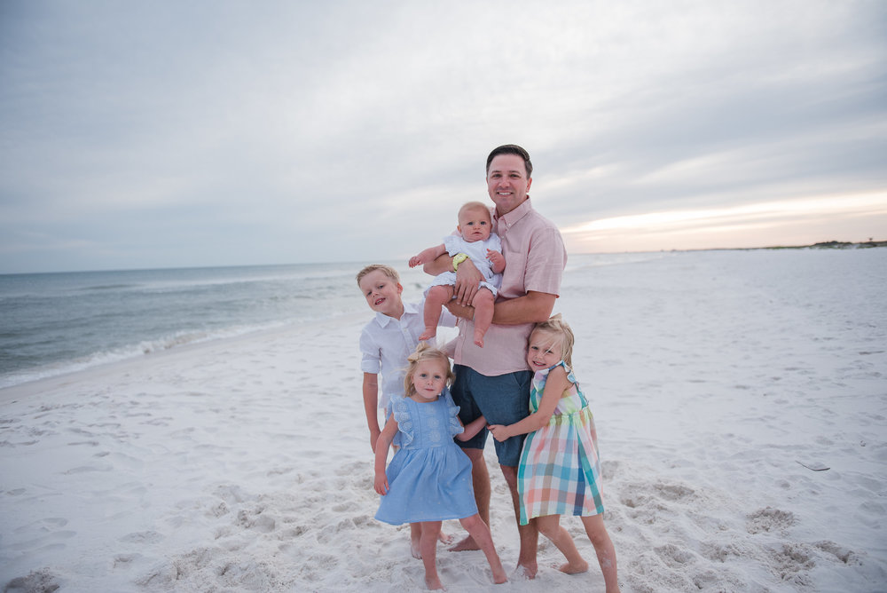 dad with kids- Pensacola Beach Photographer