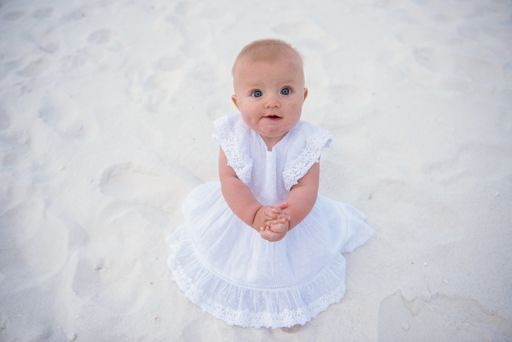 baby in sand-pensacola beach family photographer