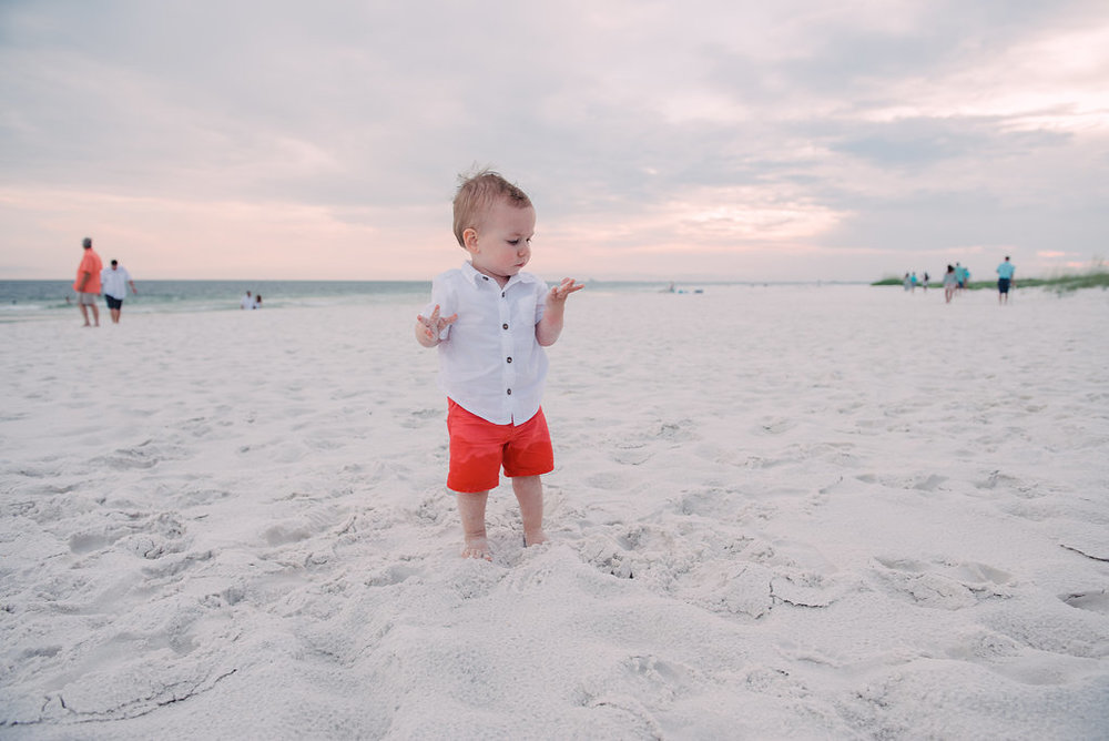 toddler in sand-pensacola photographer