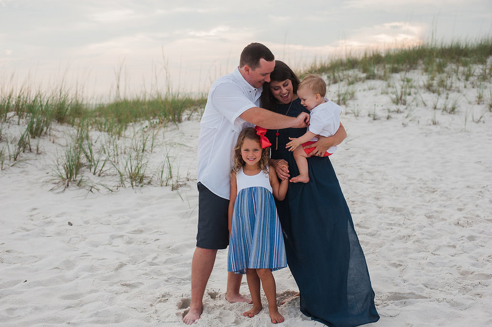family at beach-pensacola photographer