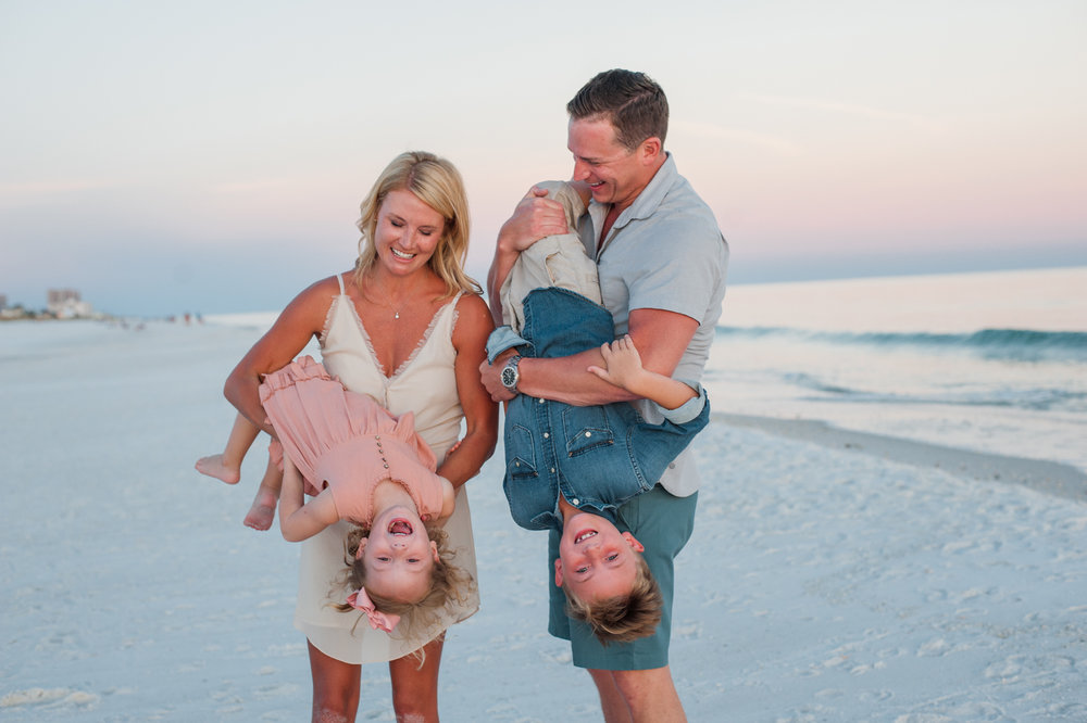 family playing at beach-Pensacola Family photographer