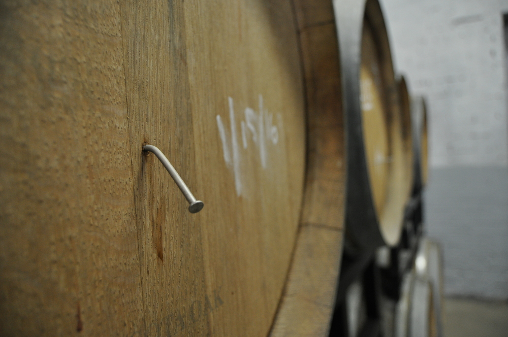 A barrel aged beer, ready to taste